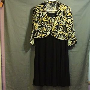 R&M RICHARDS women's dress w/jacket sz 16  black